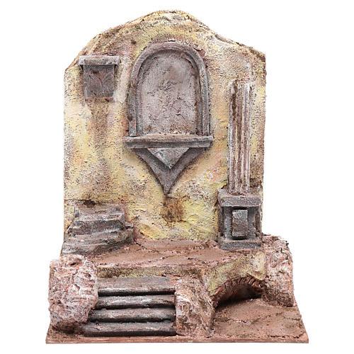 Ruines temple avec niche 29,5x24x18 cm 1