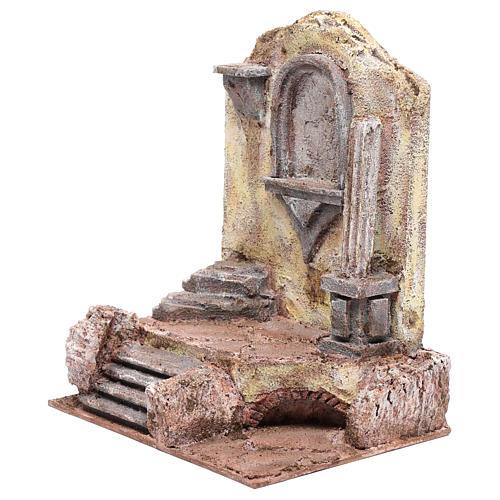 Ruines temple avec niche 29,5x24x18 cm 2