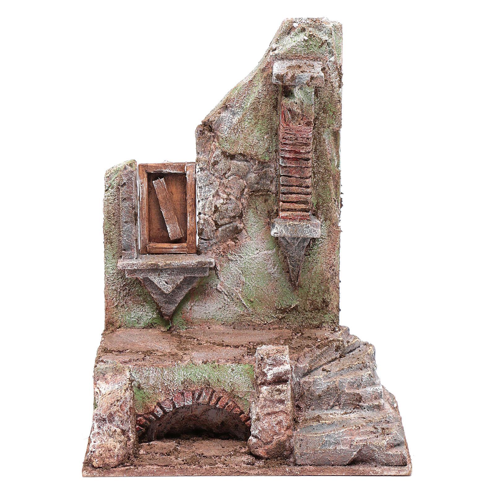 Temple demi-arc avec fenêtre 25x20x15 cm 4