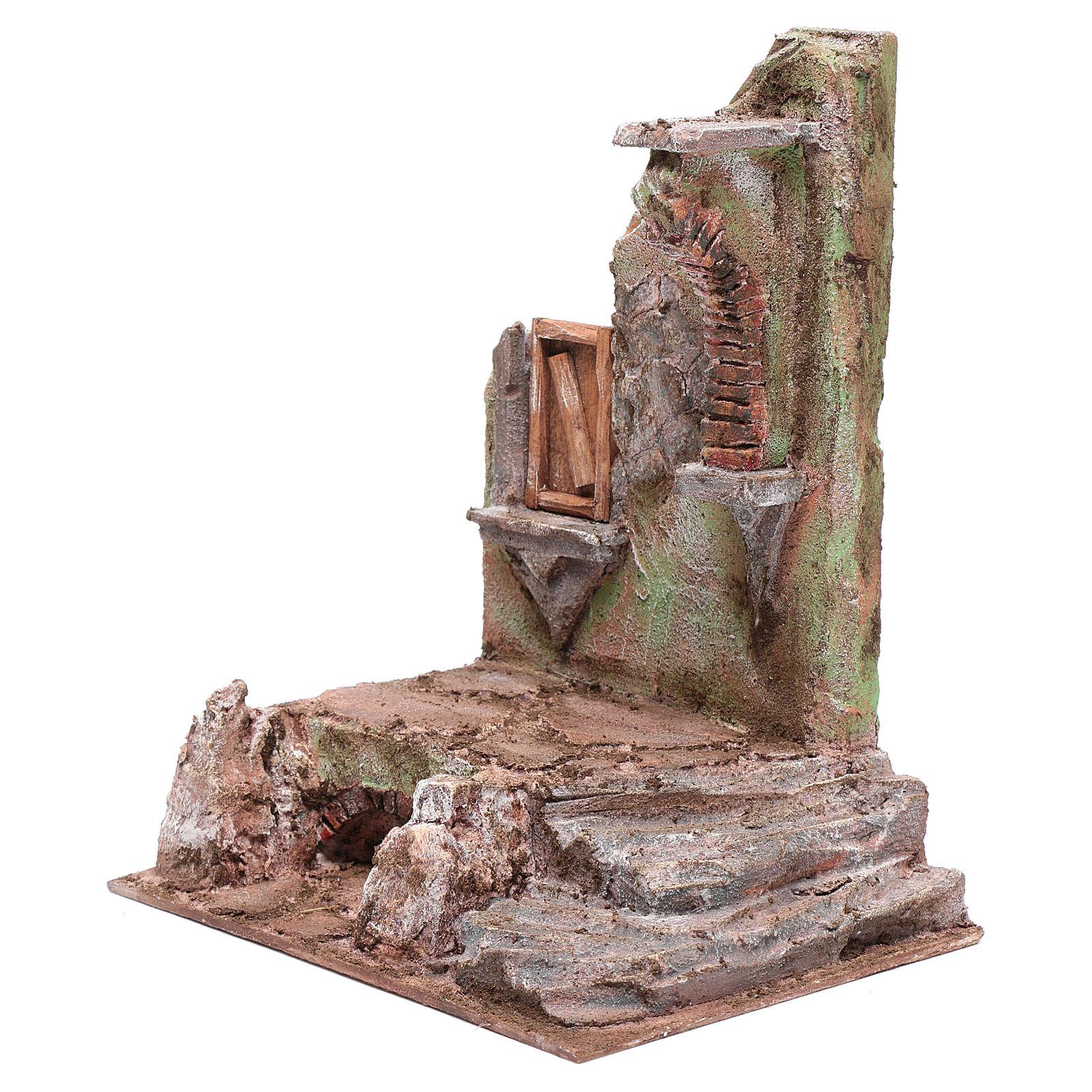 Tempio con mezzo arco e finestra 30x25x20 cm 4