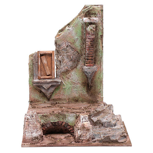 Tempio con mezzo arco e finestra 30x25x20 cm 1
