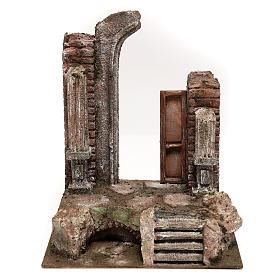 Tempio con porta e mezzo arco 30x25x20 per statue 12 cm s1