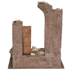 Tempio con porta e mezzo arco 30x25x20 per statue 12 cm s4