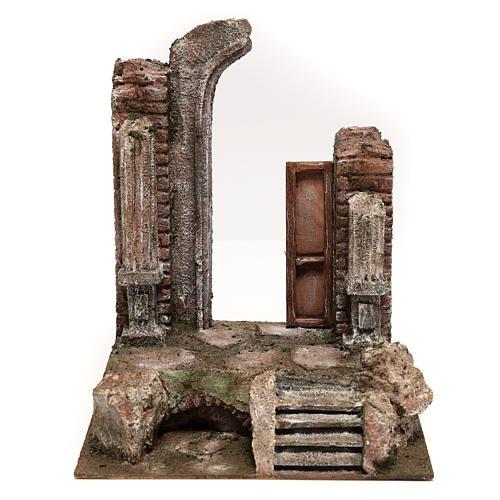 Tempio con porta e mezzo arco 30x25x20 per statue 12 cm 1