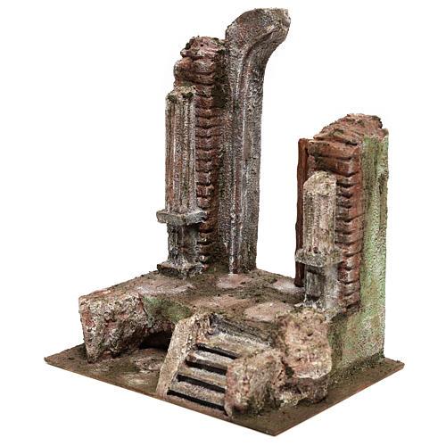 Tempio con porta e mezzo arco 30x25x20 per statue 12 cm 2