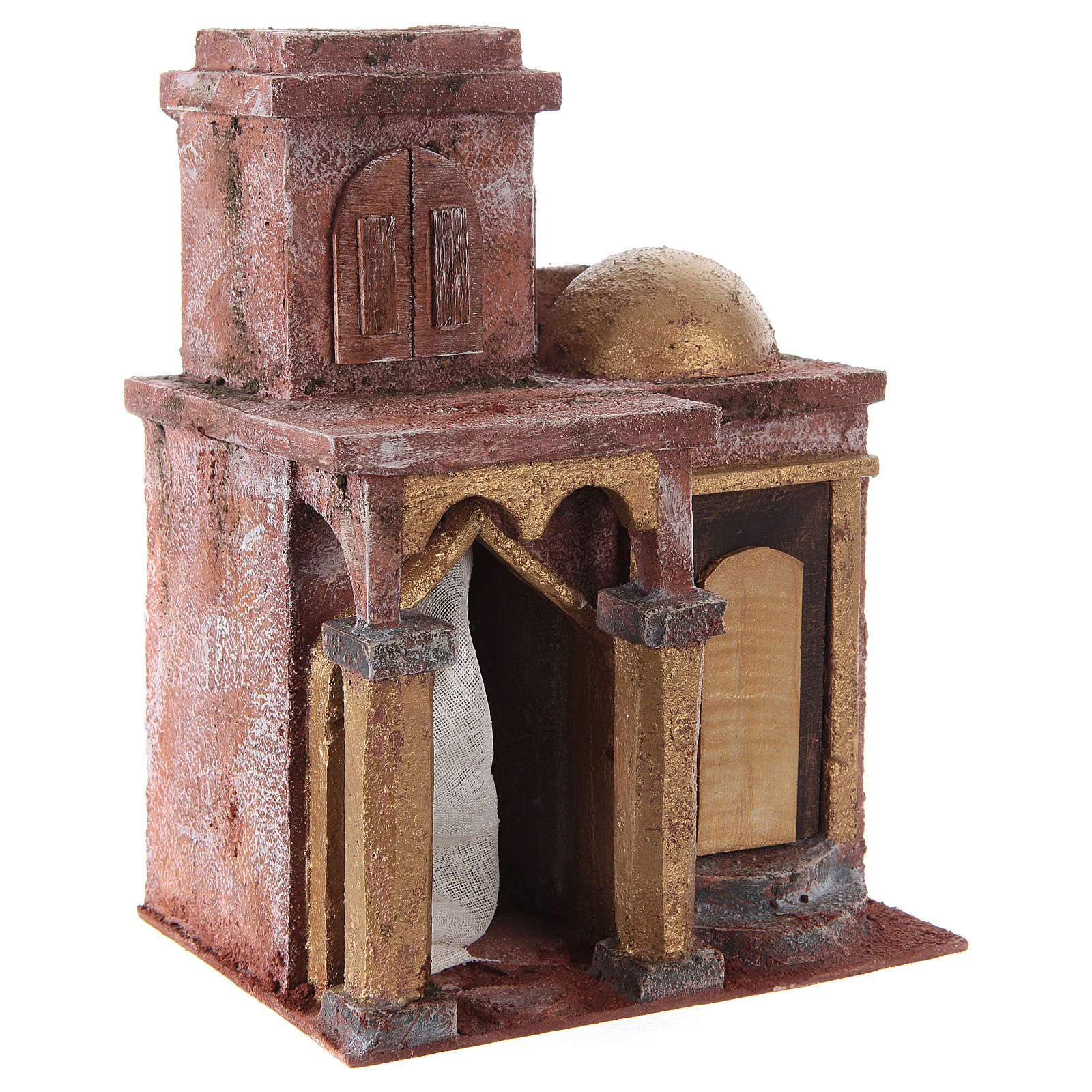Arabian style temple with room 25x20x15 cm for nativity scene 4