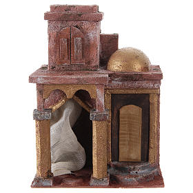 Arabian style temple with room 25x20x15 cm for nativity scene s1