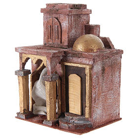 Arabian style temple with room 25x20x15 cm for nativity scene s2