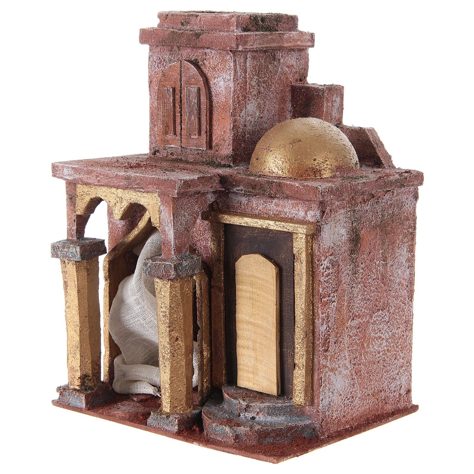 Tempio in stile arabo con stanza 25x20x15 cm presepe 4