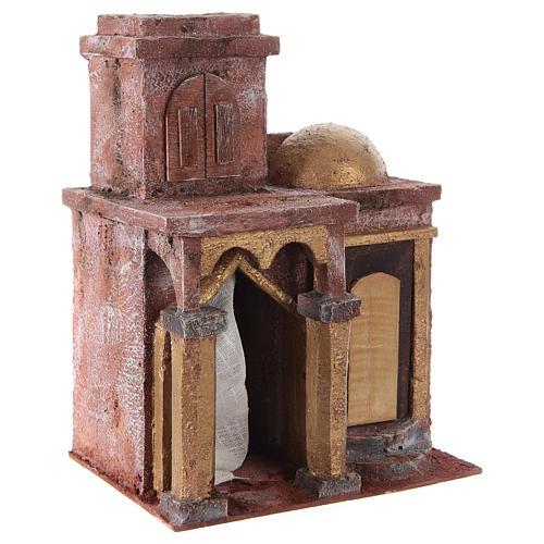 Tempio in stile arabo con stanza 25x20x15 cm presepe 3
