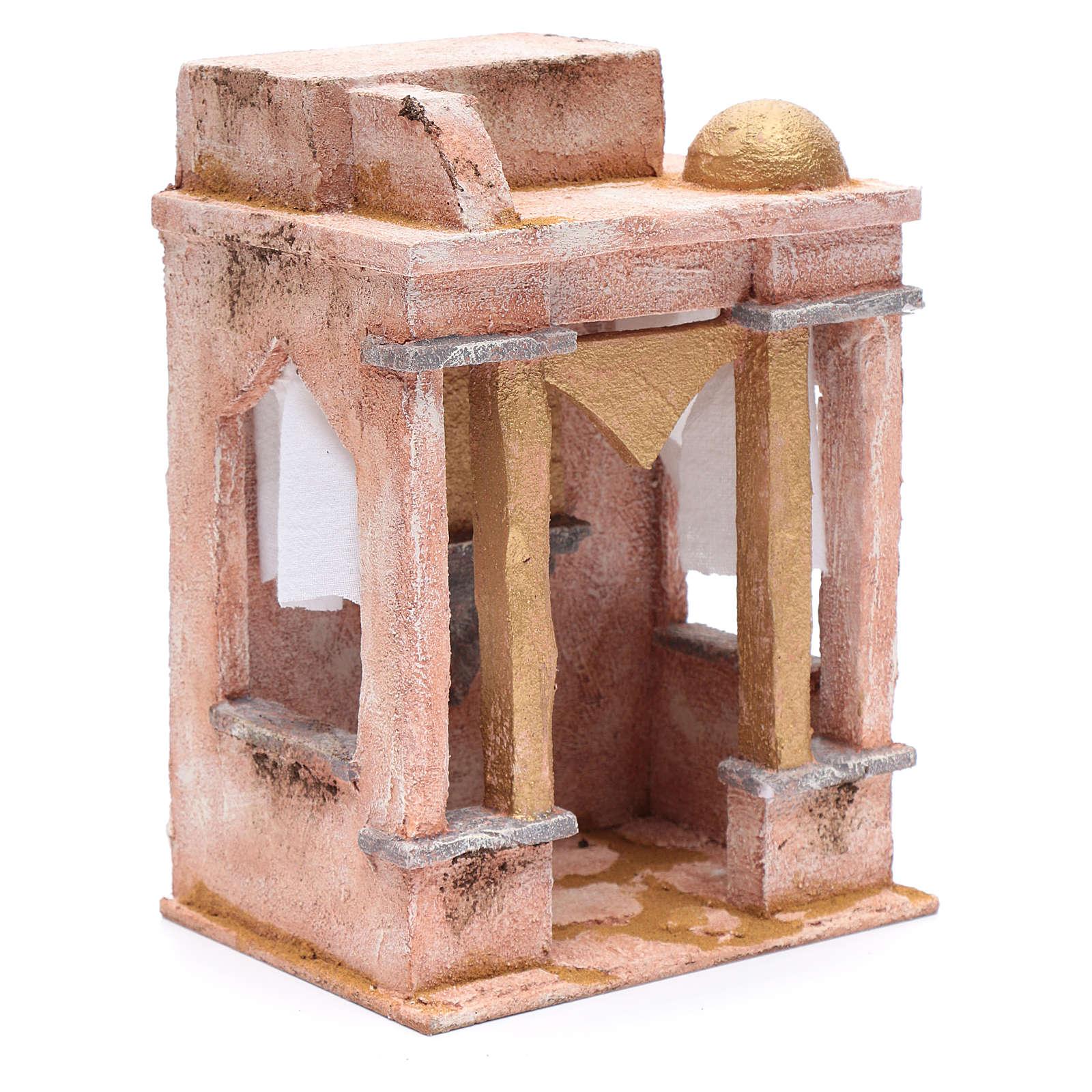 Tempio in stile arabo con colonne 25x20x15 cm 4