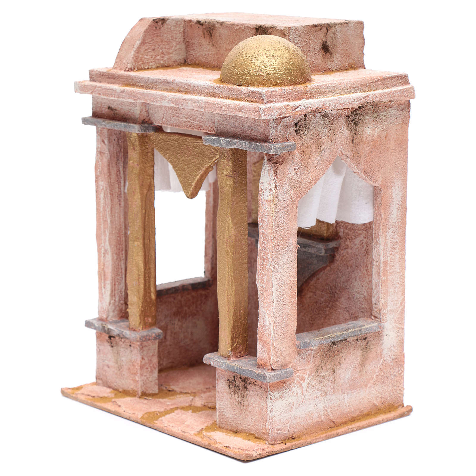 Tempio stile arabo con colonne 30x25x20 cm 4