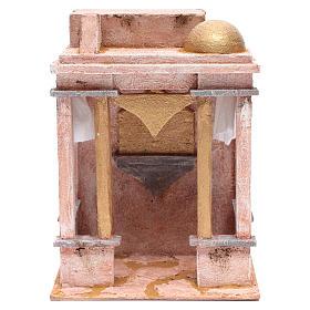 Tempio stile arabo con colonne 30x25x20 cm s1