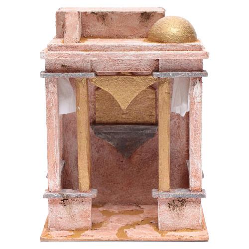 Tempio stile arabo con colonne 30x25x20 cm 1