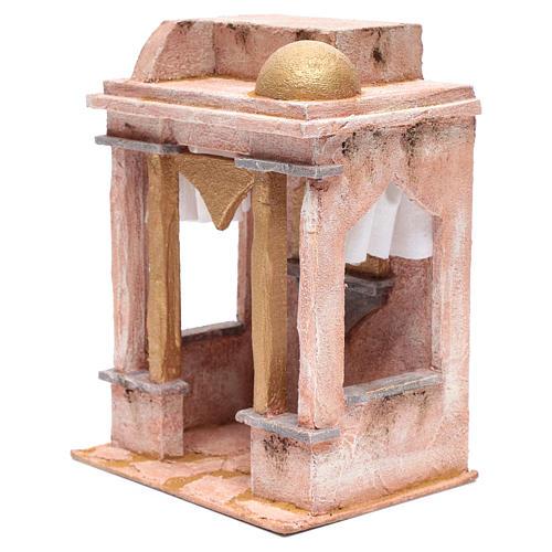 Tempio stile arabo con colonne 30x25x20 cm 2