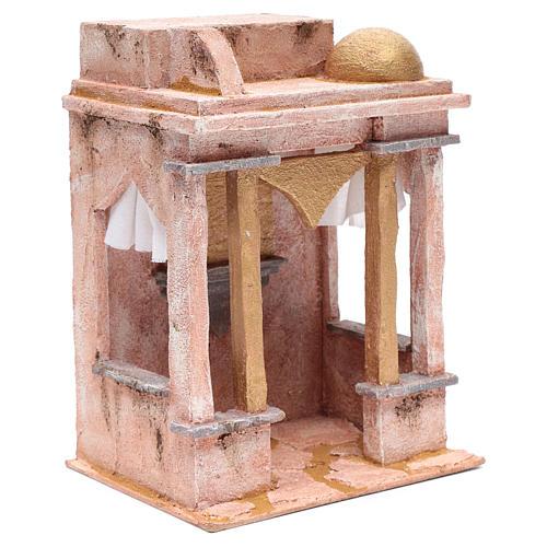 Tempio stile arabo con colonne 30x25x20 cm 3
