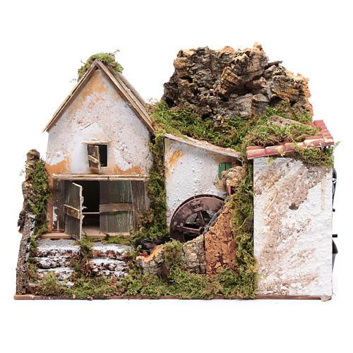 Nativity scene watermill with pump 30x20x25 cm 1