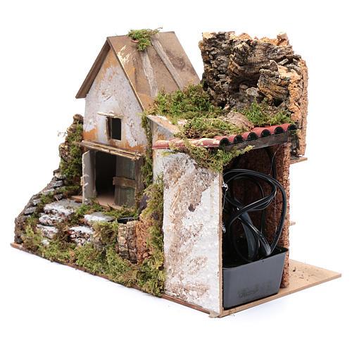Nativity scene watermill with pump 30x20x25 cm 2