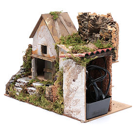 Nativity scene watermill with pump 30x20x25 cm s2