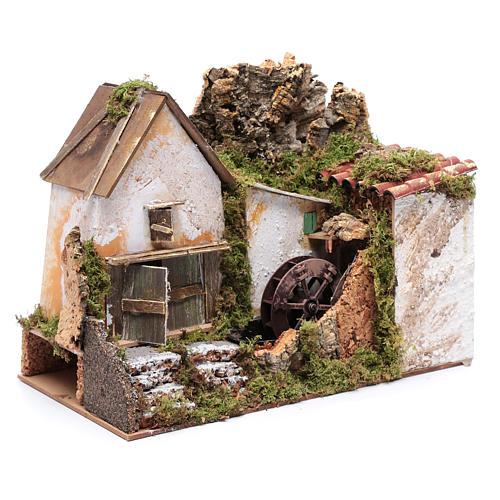 Nativity scene watermill with pump 30x20x25 cm 3