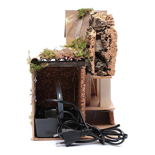 Nativity scene watermill with pump 30x20x25 cm 5
