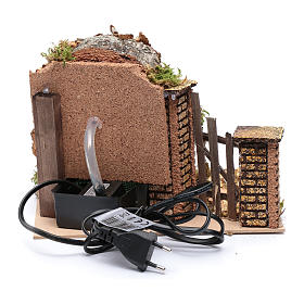 Electric fountain with pump 25x20x20 cm s4