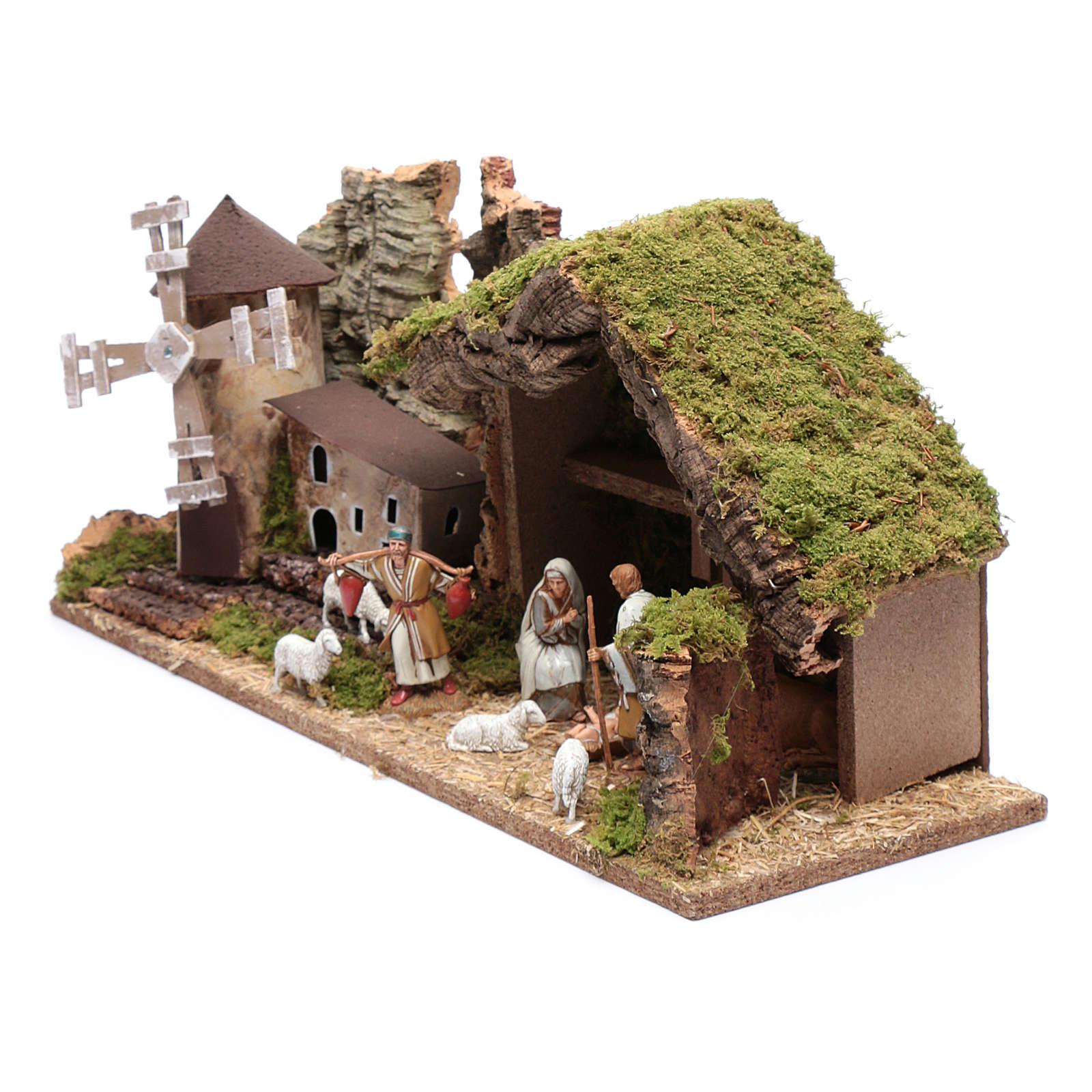 Arabian style hut with windmill  25x55x20 cm 4