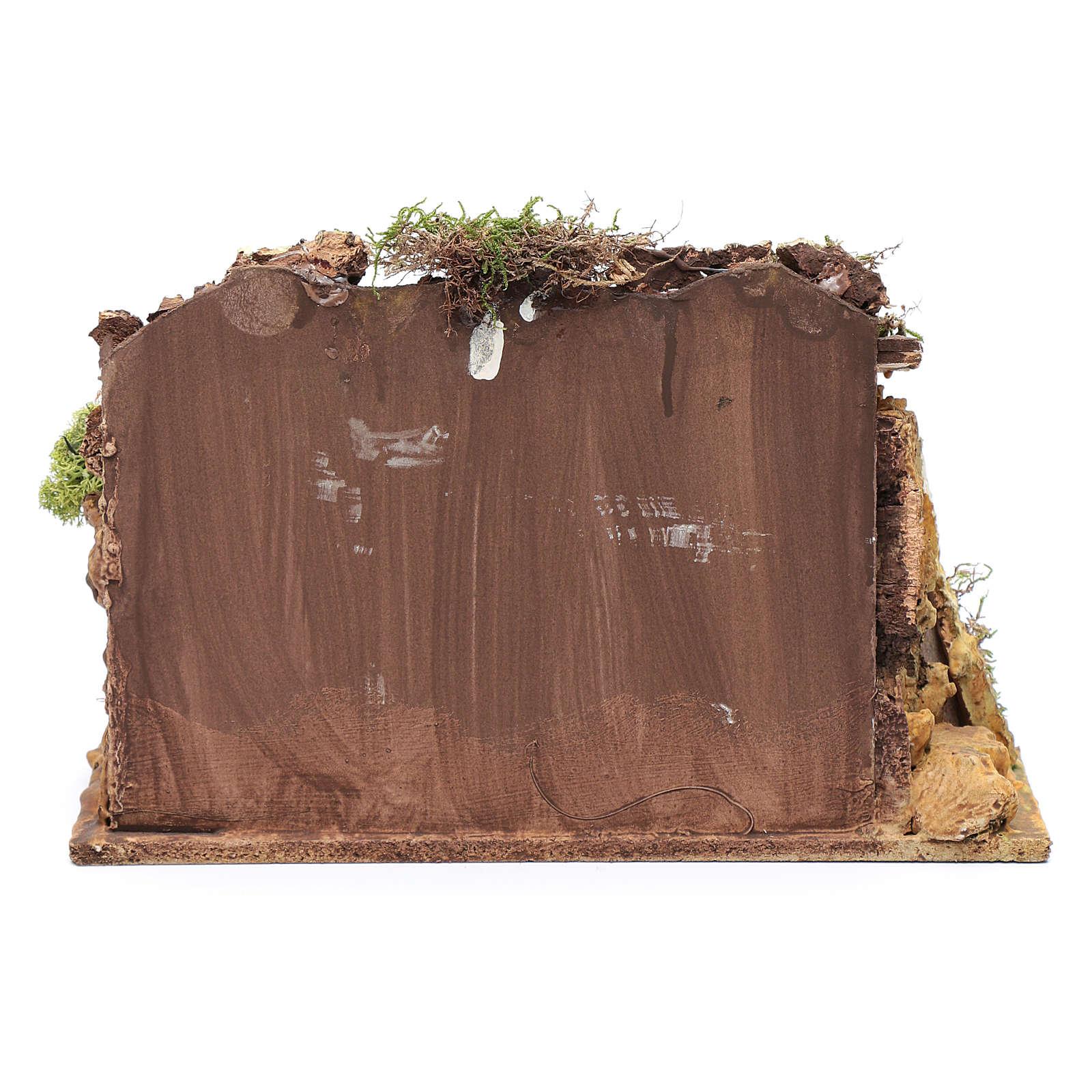 Casa in stucco con rimessa legna 20x25x15 cm 4