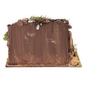 Casa in stucco con rimessa legna 20x25x15 cm s4