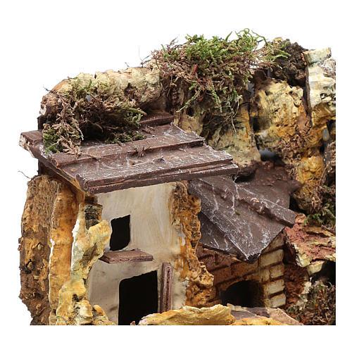 Casa in stucco con rimessa legna 20x25x15 cm 3