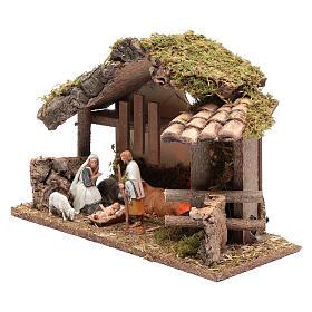 Cabane en bois avec feu 25x35x15 cm s2