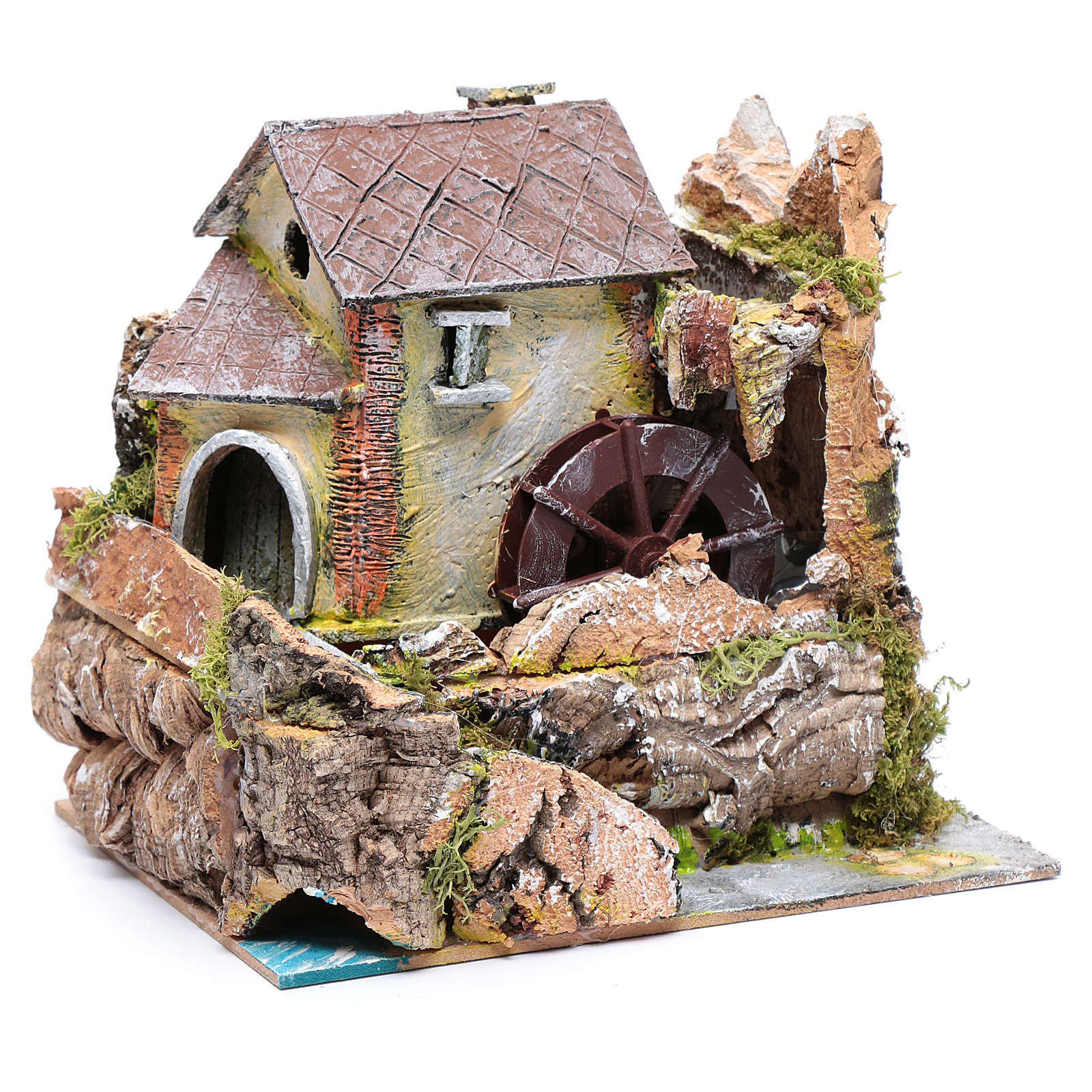 Nativity scene watermill  20x20x15cm 4