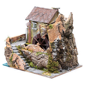 Nativity scene watermill  20x20x15cm s2