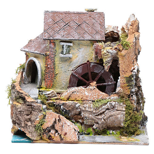 Nativity scene watermill  20x20x15cm 1