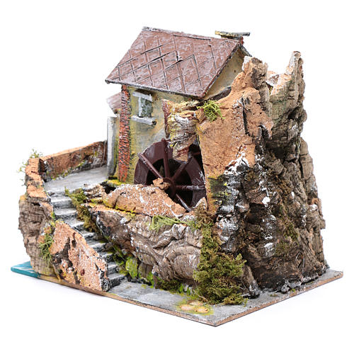 Nativity scene watermill  20x20x15cm 2