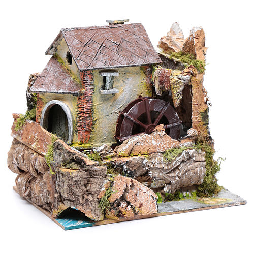 Nativity scene watermill  20x20x15cm 3