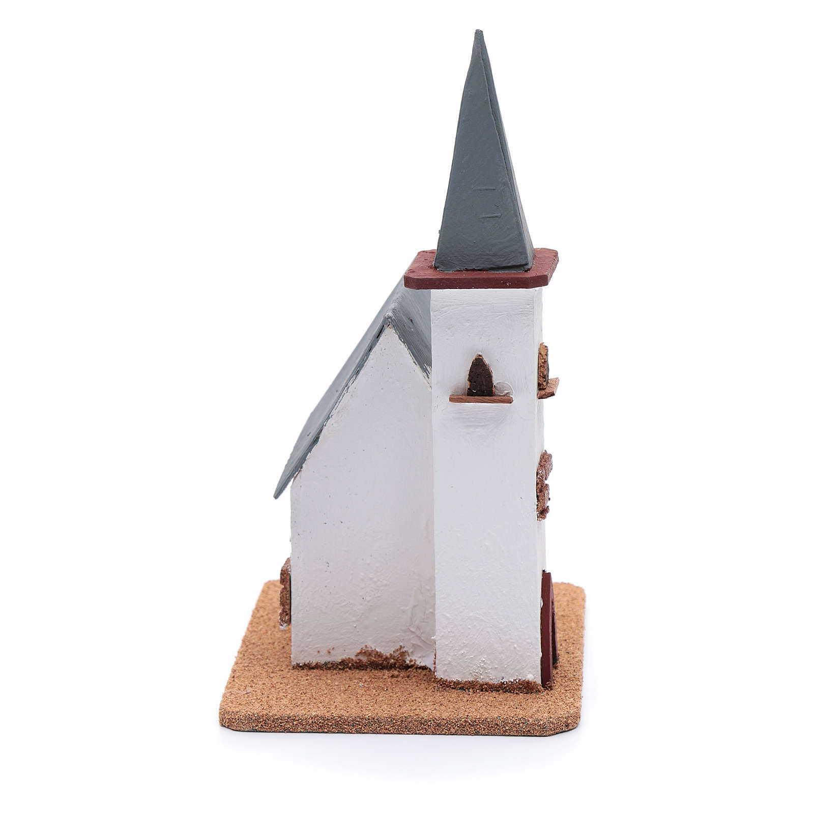 Chiesa per presepe 25x20x15 cm 4