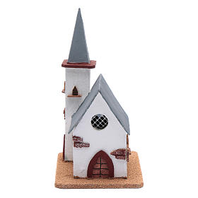 Chiesa per presepe 25x20x15 cm s1