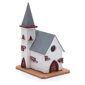 Chiesa per presepe 25x20x15 cm s3