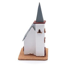 Chiesa per presepe 25x20x15 cm s4