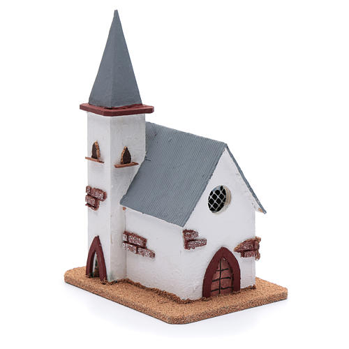 Chiesa per presepe 25x20x15 cm 3