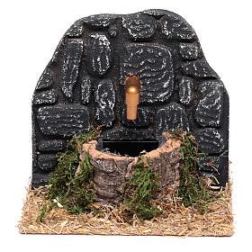 Fontana con muro pietre scure 15x15x15 cm s1