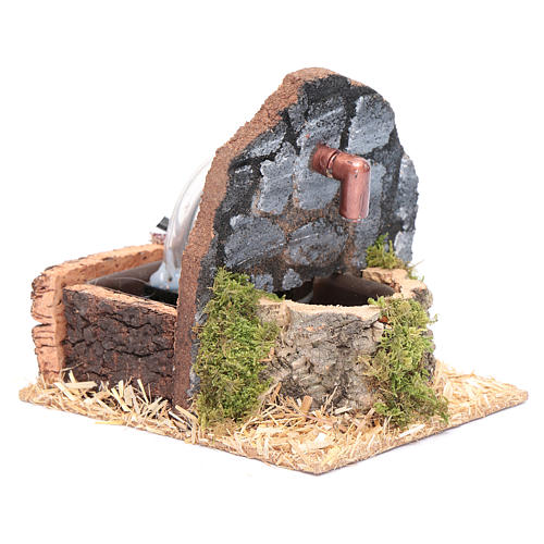 Fontana con muro pietre scure 15x15x15 cm 3