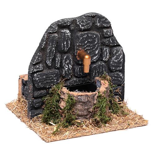Chafariz com parede pedras escuras 15x15x15 cm 3