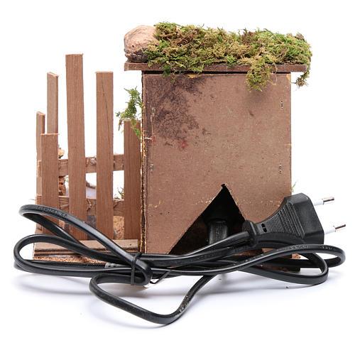 Forno elettrico con tettoia per presepe 15x15x15 cm 4