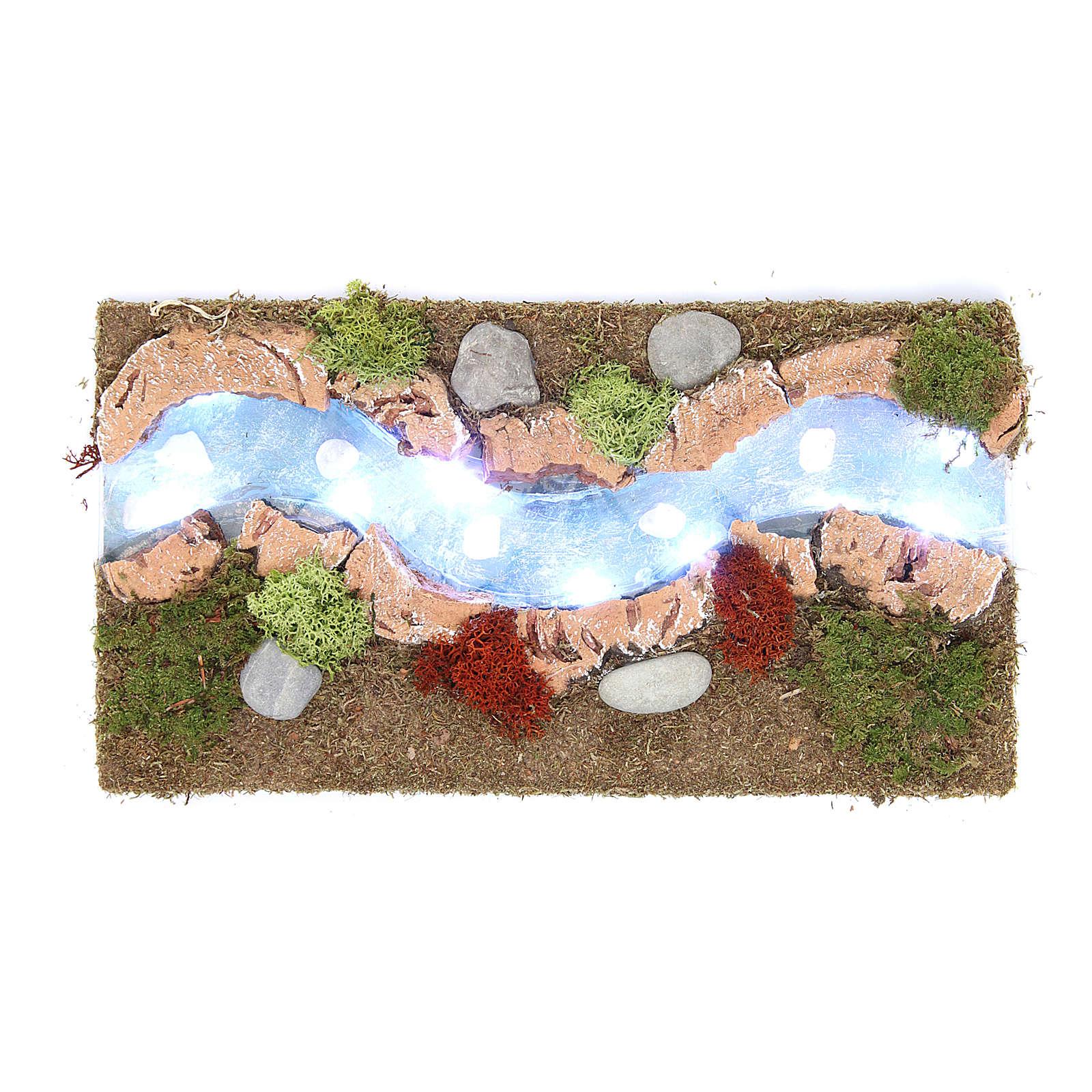 Rapide fiume luminoso e albero 30x20 cm 4