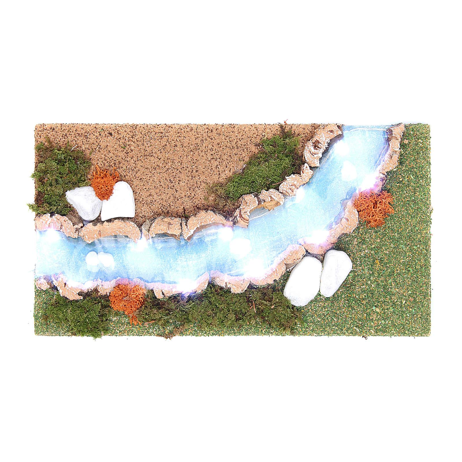 Courbe rivière éclairée 30x20 cm 4