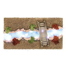Fiume luminoso con ponticello 30x20 cm s1