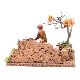 Hombre cavando en el huerto para belén 15x20x15 cm s4
