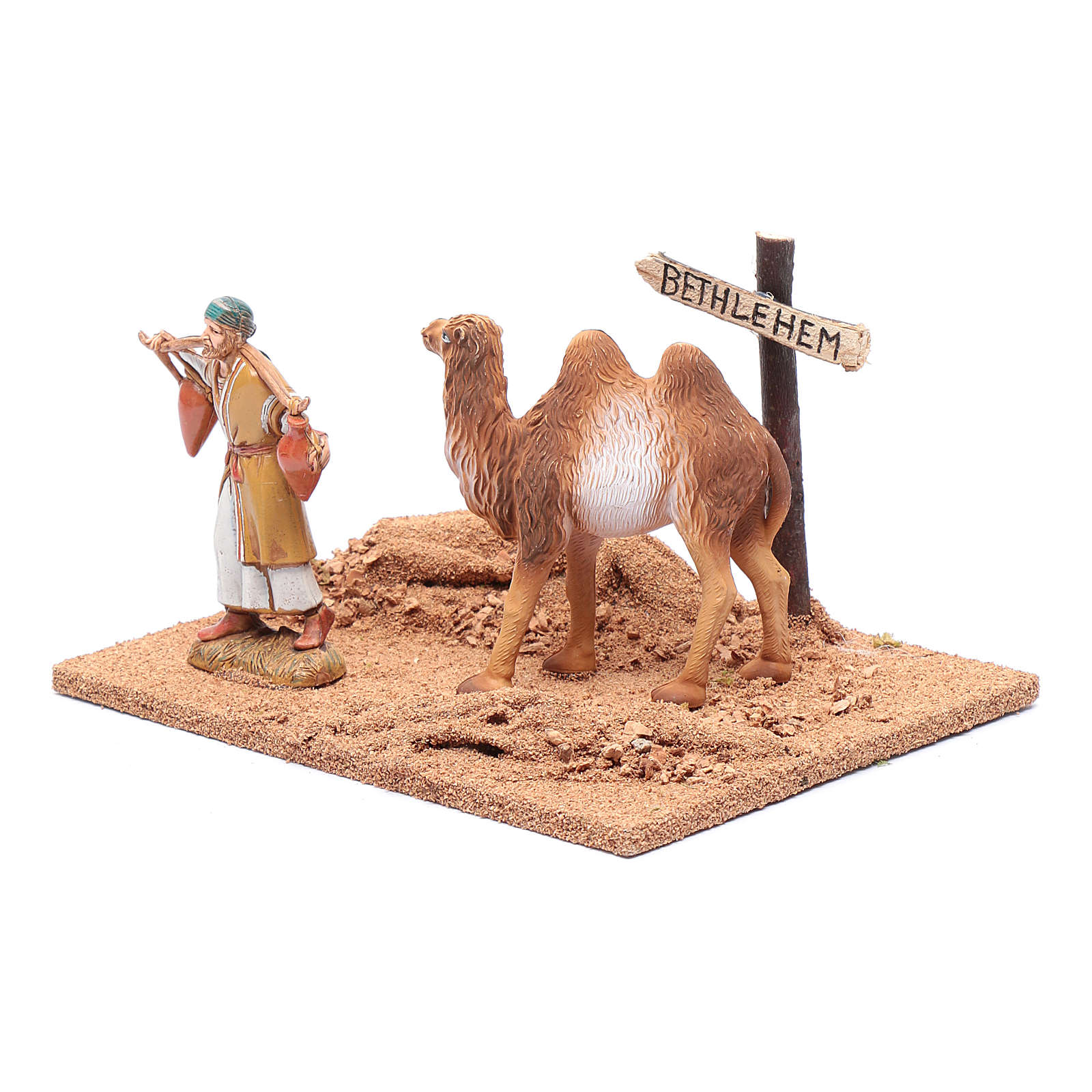 Peregrino con camello 10x20x15 cm 3